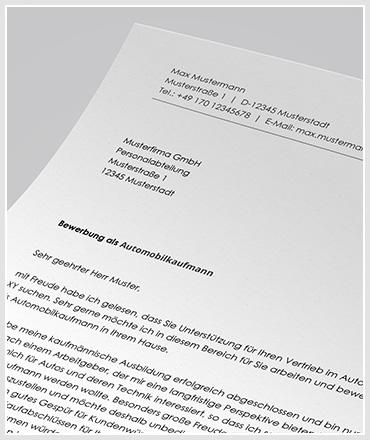 bewerbung als automobilkaufmann automobilkauffrau - Bewerbung Automobilkauffrau
