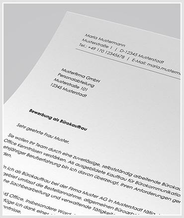 Bewerbung als Bürokaufmann / Bürokauffrau