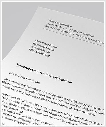 Anschreiben als Kaufmann / Kauffrau für Büromanagement