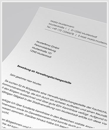Bewerbung Als Verwaltungsfachangestellte Anschreibende